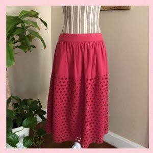 Ann Taylor LOFT Cotton Eyelet Skirt